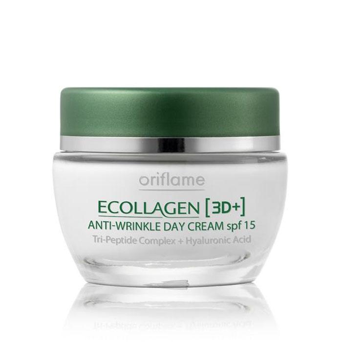 Продукт Oriflame Дневной крем против морщин SPF 15 «Эколлаген 3D+» - код 20196
