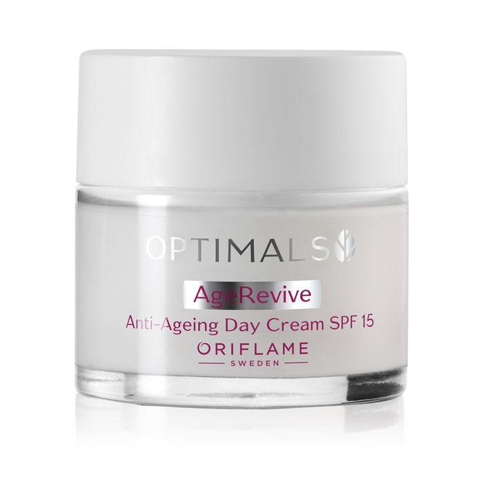 Продукт Oriflame Антивозрастной дневной крем для лица SPF 15 OPTIMALS AGE REVIVE - код 32474