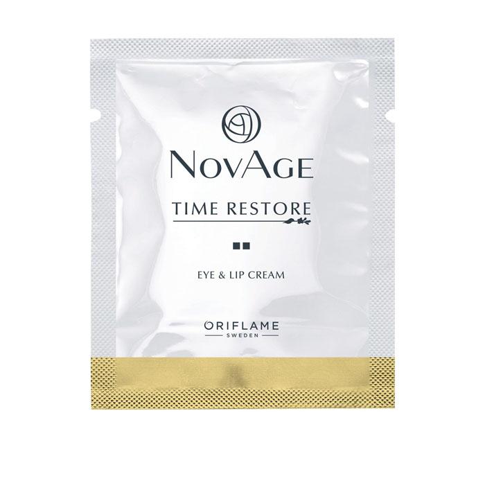 Пробник Омолаживающий крем для контура глаз и губ NOVAGE TIME RESTORE - код 35200